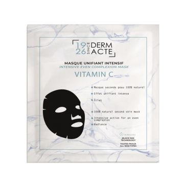 Masca folie Academie DermActe Unifiant Intensif cu vitamina c pentru luminozitatea tenului 1buc
