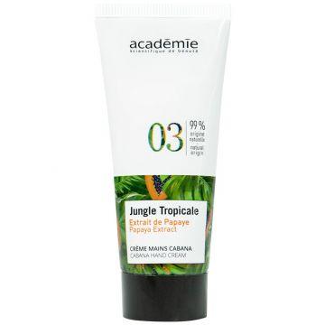 Crema de maini Academie Spa Destination Jungle Tropicale cu efect regenerant 30 ml