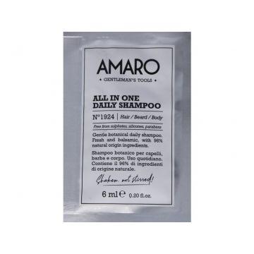 Sampon Amaro All In One Daily pentru barbati 6ml