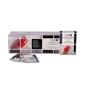 Folii aluminiu CND Foil Remover Wraps pentru indepartarea lacului de unghii 250buc