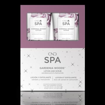 Set Lotiune & Scrub CND SPA Gardenia Woods Duo Pack pentru maini si picioare 2 x 248ml