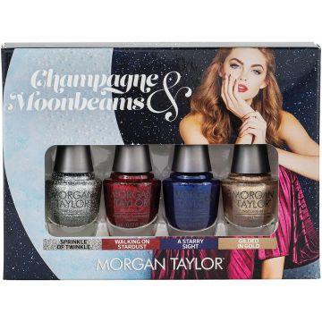 Set lacuri de unghii Morgan Taylor Champagne & Moonbeams Mini Pack 4 x 5ml