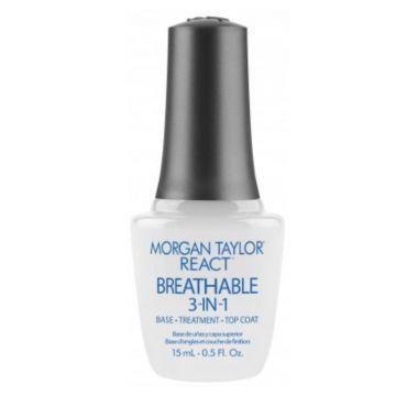 Base-Treatment-Top Coat Morgan Taylor React Breathable 3 in 1 15ml