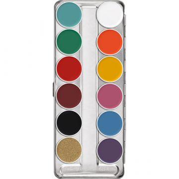 Paleta Kryolan Supracolor Make-Up 12 culori