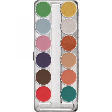 Paleta Fard crema Kryolan Aquacolor Interferenz pentru fara si corp 40ml