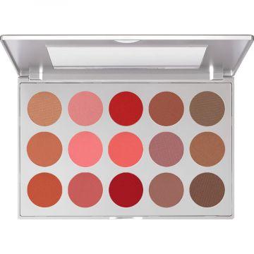 Paleta profesionala de blush Kryolan Blusher set 15 culori Habitat 37.5g