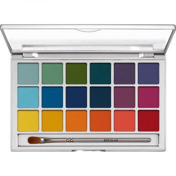 Paleta fard ochi Kryolan Eye Shadow Variety 18 culori V2 20g