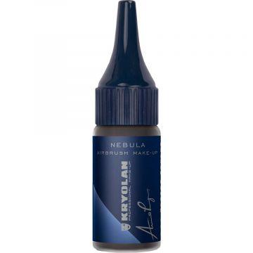 Fard lichid profesional Kryolan Nebula Vivid Airbrush True Black 14ml