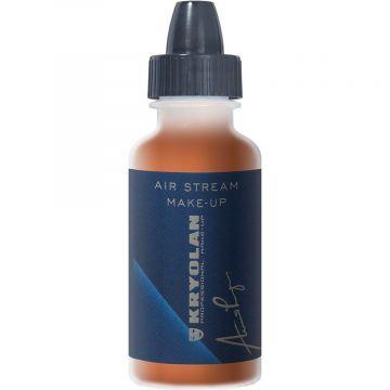 Fard lichid profesional Kryolan Air Stream Make-up Mat Shading Brown 15ml